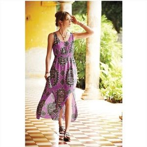 Maeve by Anthropologie Annas Maxi Dress in Purple
